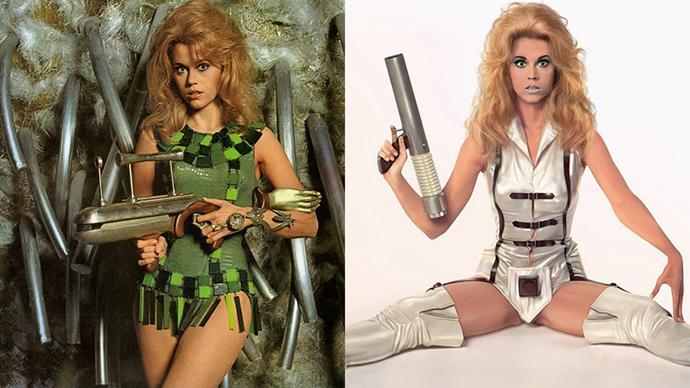 ***Barbarella* (1968)** <BR><BR> Jane Fonda's *Barbarella* silver swimsuit is the stuff of cinematic costume legend, and rightfully so. It's kitsch, ridiculous and totally amazing, much like the film itself.