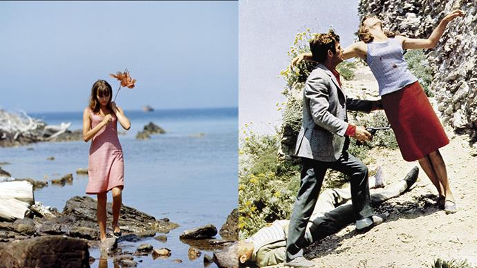 "***Pierrot le Fou* (1965)** <BR><BR> Another Godard girl to add to the list: the late [Anna Karina](https://www.harpersbazaar.com.au/fashion/anna-karina-style-19732|target=""_blank""). On and off the screen she was a style icon, but never more so than in her turn as Marianne Renoir, the Bonnie to Jean-Paul Belmondo's Clyde with a penchant for red, gingham and adultery."