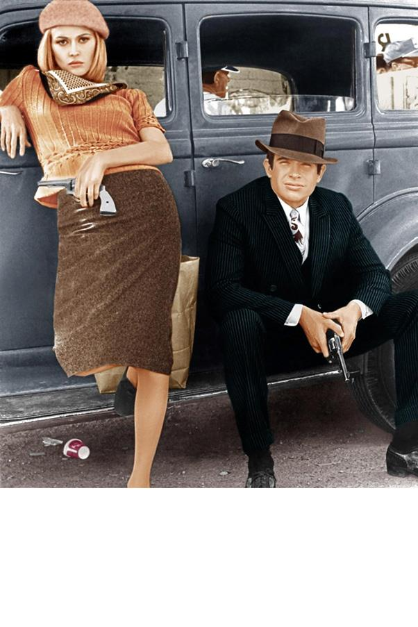 ***Bonnie and Clyde* (1967)** <br><br> Faye Dunaway in *Bonnie and Clyde* is peak Faye Dunaway, and for a murderous criminal on a full-blown crime spree, the girl sure finds time to accessorise. It's neck scarves, berets and coloured stockings galore.