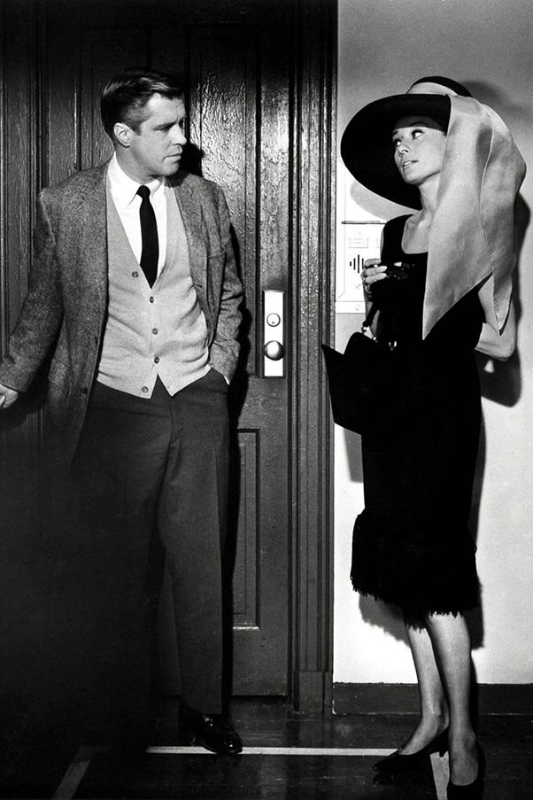 "***Breakfast at Tiffany's* (1961)** <BR><BR> In all of cinematic history, is there a single outfit more iconic than Audrey Hepburn, the black [Givenchy](https://www.harpersbazaar.com.au/fashion/hubert-de-givenchy-audrey-hepburn-15986|target=""_blank"") gown, the diamond necklace and the velvet gloves? If so, we're yet to find it. Holly Golightly is a style icon for the ages."