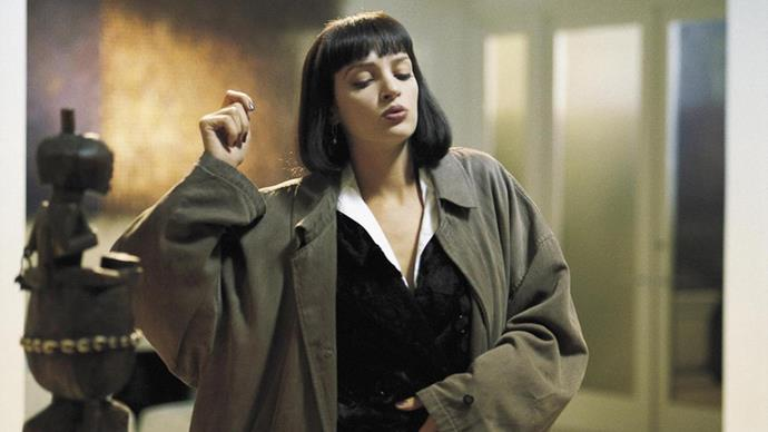 ***Pulp Fiction* (1994)** <BR><BR> If Holly Golightly is the most stylish woman on film then Mia Wallace is a close second. Who knew cropped black trousers and a crisp white shirt could be so damn iconic?