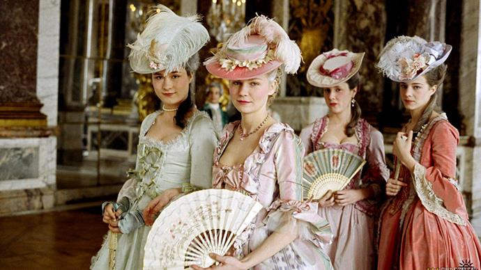 ***Marie Antoinette* (2006)** <br><br> Sofia Coppola knows a thing or two about style, so it figures that her film's are heavyweights in the costume department. *Marie Antoinette*, with its embellished wigs, ornate fans and dramatic gowns, is possibly her most stylish offering thus far.