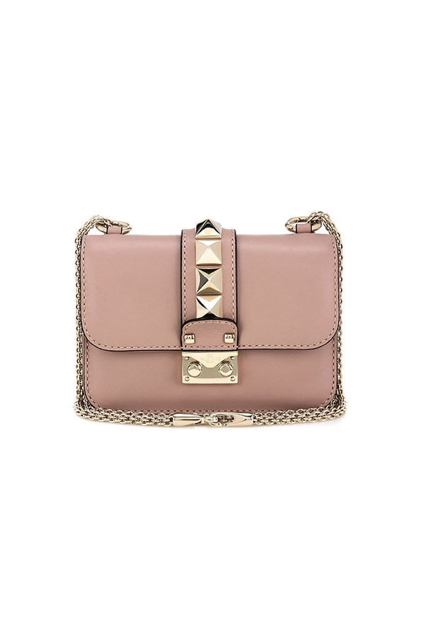 "<strong>BUY</strong><BR><BR> Valentino lock mini leather shoulder bag, $2,220, <a href=""http://www.mytheresa.com/en-au/lock-mini-leather-shoulder-bag-546891.html"">My Theresa</a>"