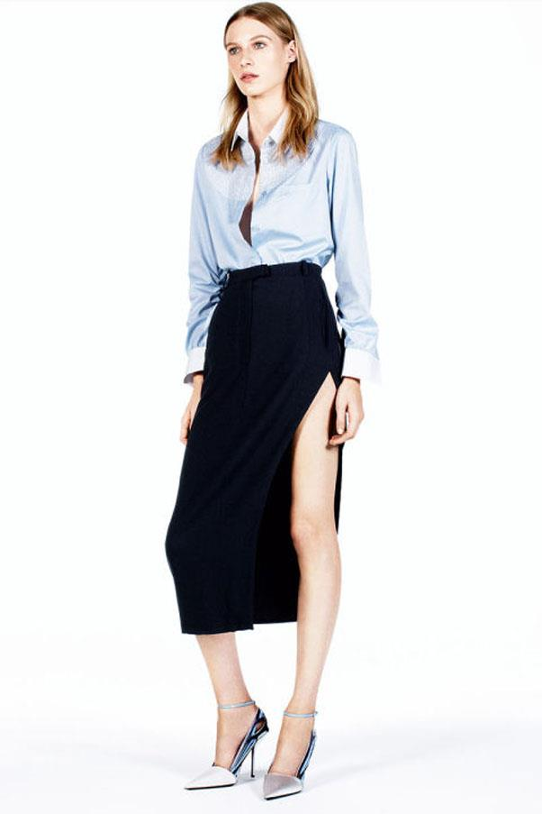 <strong>5. Invest in staple pieces you'll wear forever. </strong><br><br> Build out your work wardrobe with foundational pieces that will never go out of style. Oxford shirts, pencil skirts, tailored trousers, turtlenecks, blazers, pumps and a structured tote are all pieces worth spending a little more on for higher quality construction that will hold up over time.