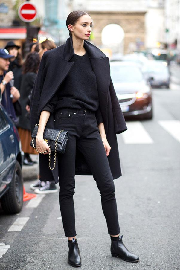<strong>12. When in doubt, wear black. </strong><br><br> Also, black-and-white. It's a fail-safe option we cannot stress enough.