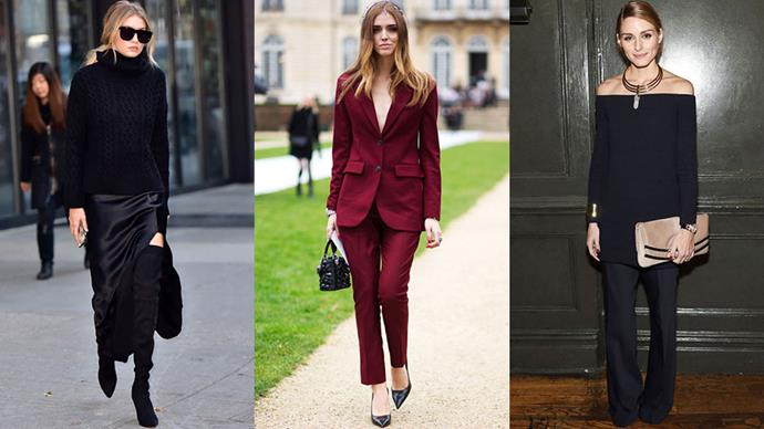 15. Layers and separates are the key to day-to-night dressing.<br><br> If you have an after-work event on the agenda, plan an outfit that can make the transition easily. An evening top can easily be hidden by a blazer at work, or a slinky skirt can be grounded with a chunky knit and boots. The pant-suits is a power player as well - wear it buttoned up with no blouse underneath to quickly make the move into sultry, nighttime wear.