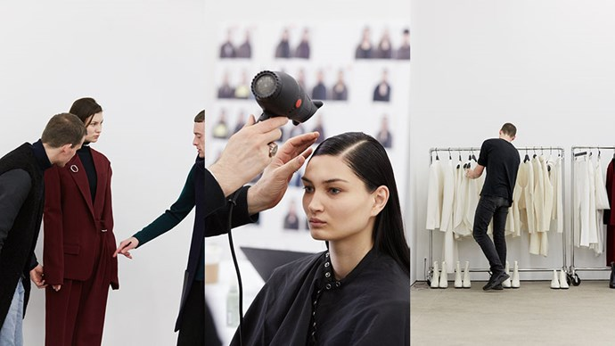 Click through to see the behind-the-scenes at the Dion Lee show at New York Fashion Week.<br><br> Photo Credits: Ben Pexton.