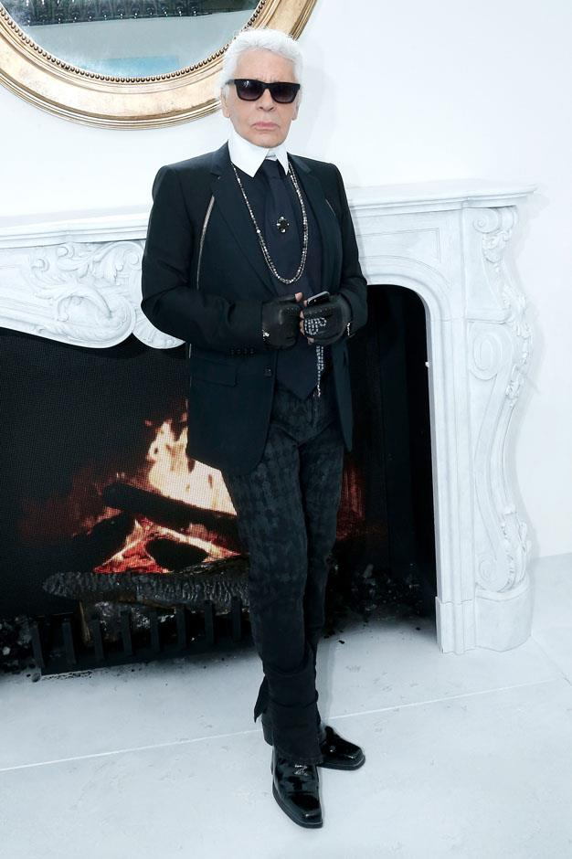 <strong>Karl Lagerfeld</strong> <br><br> <strong>Real name:</strong> Karl Lagerfeldt