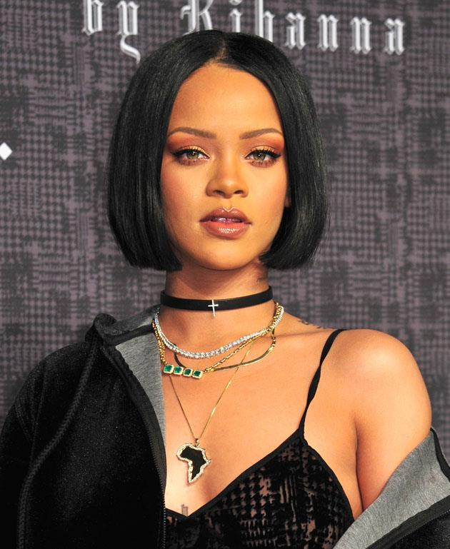 <strong>Rihanna</strong> <br><br> <strong>Real name:</strong> Robyn Rihanna Fenty