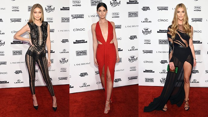 The best red carpet moments from the <em>Sports Illustrated</em> Swimsuit Issue launch...