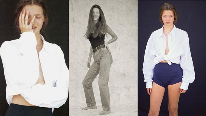 Nine rare photos from Kate Moss' first ever photo shoot have gone on display in London...
