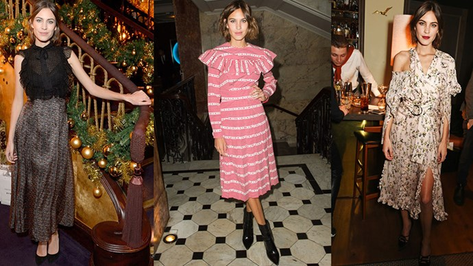 <strong>DO THE RUFFLE</strong><BR><BR> Alexa Chung rarely met a ruffle she didn't like—wearing the feminine flair on dresses and tops for added interest.
