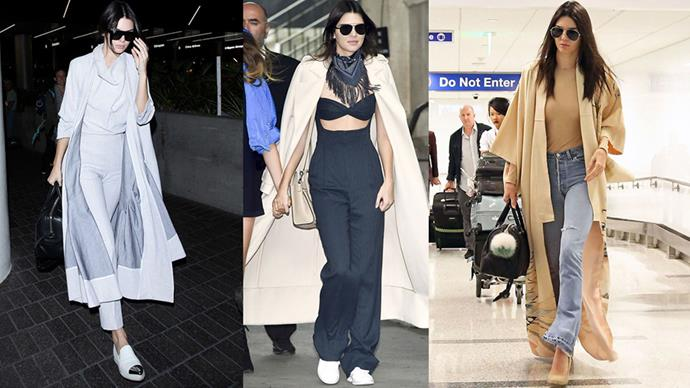 <strong>THE DRAMATIC COAT</strong><BR><BR>Kendall Jenner's fashion moves are well-documented, and the one idea she returned to most was a topper that lent itself to making an entrance—the longer and more impactful the better.
