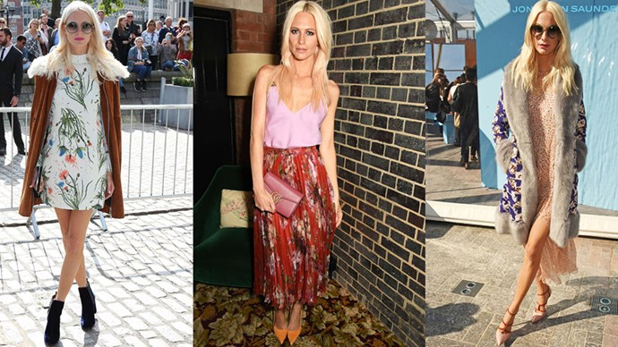 <strong>FLOWER POWER</strong><BR><BR>Perhaps her name gives it away, but Poppy Delevingne loves a good flower moment. The trick is in not letting her looks become saccharine—adding boho coats and sultry lingerie tops to the floral mix.