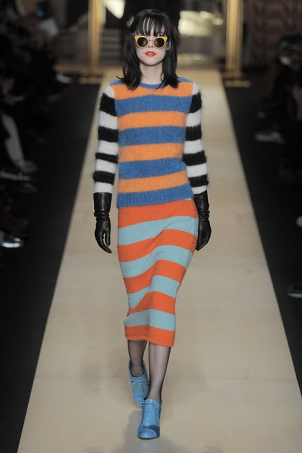 <strong>MAX MARA</strong><BR><BR> It's good to explore, expand and push beyond what is expected. Especially as fashion is clearly changing at a clip. And the colourful clingy striped knits offered a peak at a deft hand with colour mixes and a more laid back every day look. In other words, a possible new customer.