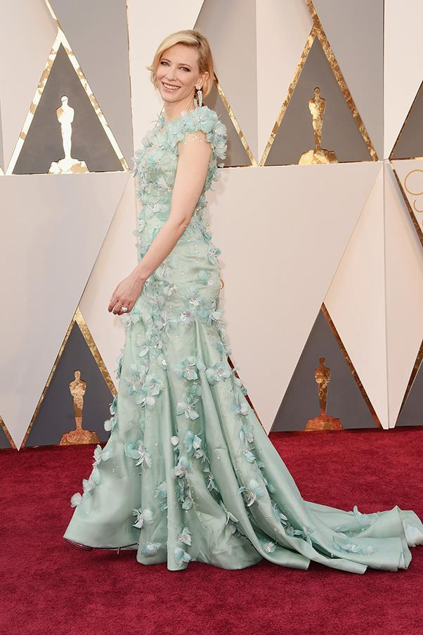 """<strong>Cate Blanchett:</strong> <br><br> """"Looks like the fairy god mother in Cinderella."""" - Hannah McLennan, editorial coordinator/bookings editor."""