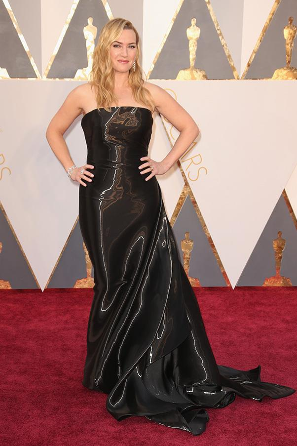 """<strong>Kate Winslet:</strong> <br><br> """"I hate to say this since I love love love Kate, but this Ralph Lauren looks somewhat like an oil spill – and not in a good way."""" - Grace O'Neill, digital content manager <br><br> """"I am going to be polite and just say she could've done better."""" - Alison Izzo, digital editor"""