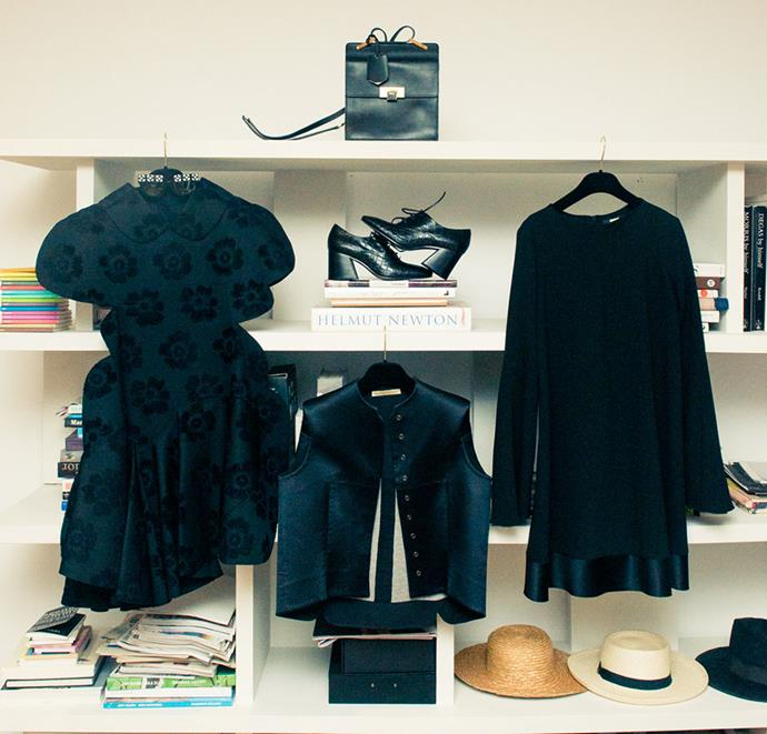"""<strong>Kym Ellery</strong> <br><br> Because every wardrobe needs reading material alongside the best designers. <br><br> <em><a href=""""http://www.thecoveteur.com/2015/06/15/ellery-brand-kym-ellery/"""">The Coveteur</a></em>"""