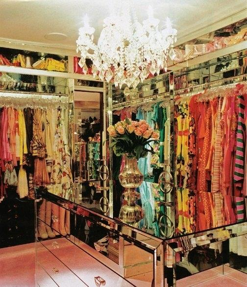 <strong>Paris Hilton</strong> <br><br> With no wall without a mirror, this colour-coded wardrobe is the organised girl's dream space.