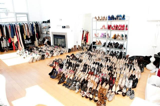 <strong>Rachel Zoe</strong> <br><br> With a shoe collection this large, the floor is obviously the next best place to keep them all.