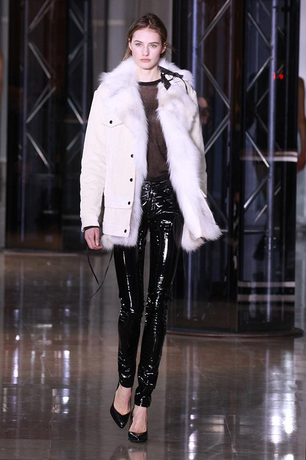 <strong>ANTHONY VACCARELLO</strong><BR><BR> And when he did cover his girls, it was in sensational leather field jackets lined with fur. Keeping the fur on the inside made everything louche and less flashy (save that for those liquid leggings). Being this intrinsically coolly insouciant is hard to do, and Vaccarrello continues to give his clients a step-by-step how-to.