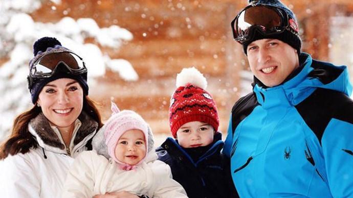 British Royal Family Kate Middleton Prince William Family Portrait