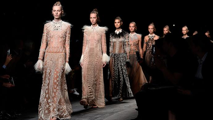 Watching Valentino Autumn Winter 2016 Paris Fashion Week Show