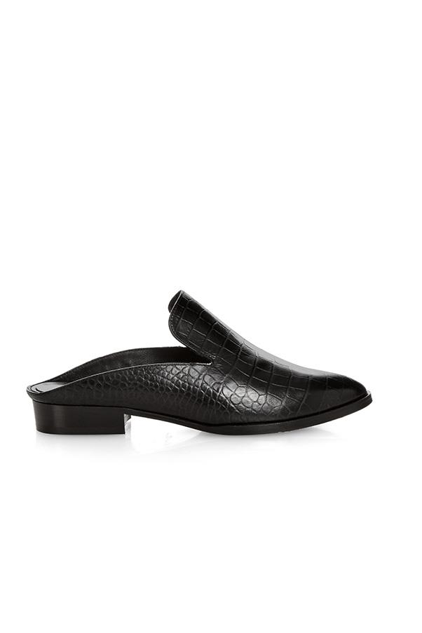 "'Alice' crocodile-effect leather slip-on loafers, $538, <a href=""http://www.matchesfashion.com/au/products/Robert-Clergerie-Alice-crocodile-effect-leather-slip-on-loafers-1057435"">Matches Fashion</a>"
