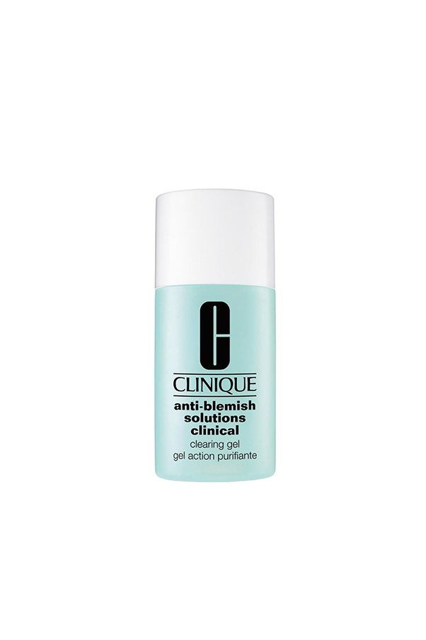 """<strong>Anti-blemish solutions clinical clearing gel by Clinique</strong><br><br> Battle the occasional break out with a slight dousing of Clinique's clearing gel in problem areas after cleansing.<br><br> $48 for 30ml, <a href=""""http://www.clinique.com.au/product/1672/29793/Skin-Care/Acne/Treatment-Specialists/Anti-Blemish-Solutions-Clinical-Clearing-Gel"""">Clinique</a>"""