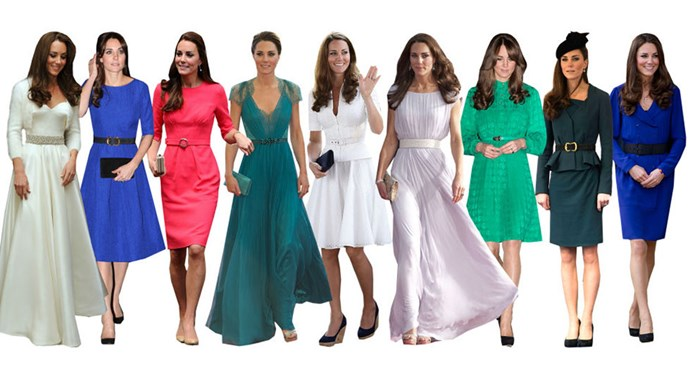 <strong>ACTUALLY, BELTS ON EVERYTHING</strong><br><br> On second thought, Kate Middleton's signature style isn't just a belted coat, it's the belt itself. What can we say? The Duchess loves a nipped waist. She will cinch everything from skirt suits to formal wear. She even strapped one to her second wedding dress.