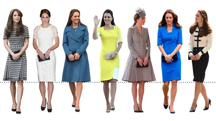 <strong>A PRECISE HEMLINE</strong><BR><BR> Take a look at our visual. You'll see that Kate's hemline is the same every. Single. Time. We can't blame her though: it's clearly the most flattering cut for her body.
