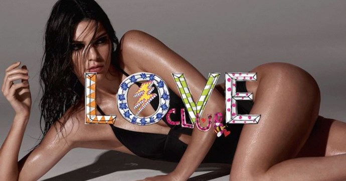 Kendall Jenner is the face of Calvin Klein swim