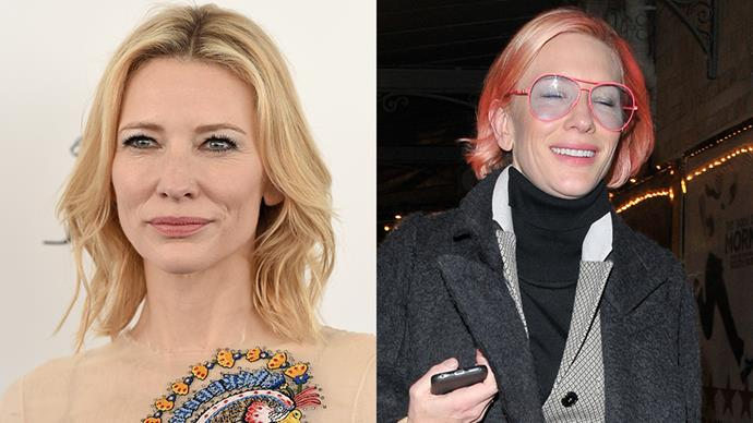 <strong>Cate Blanchett</strong><BR><BR> Fresh off the back of award season homegrown beauty Cate Blanchett debuted a playful new 'do - a pastel pink bob.