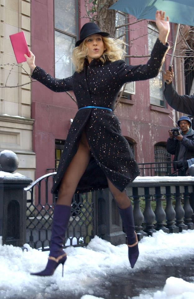 <strong>2003</strong> <br><br> SJP's take on snow boots.