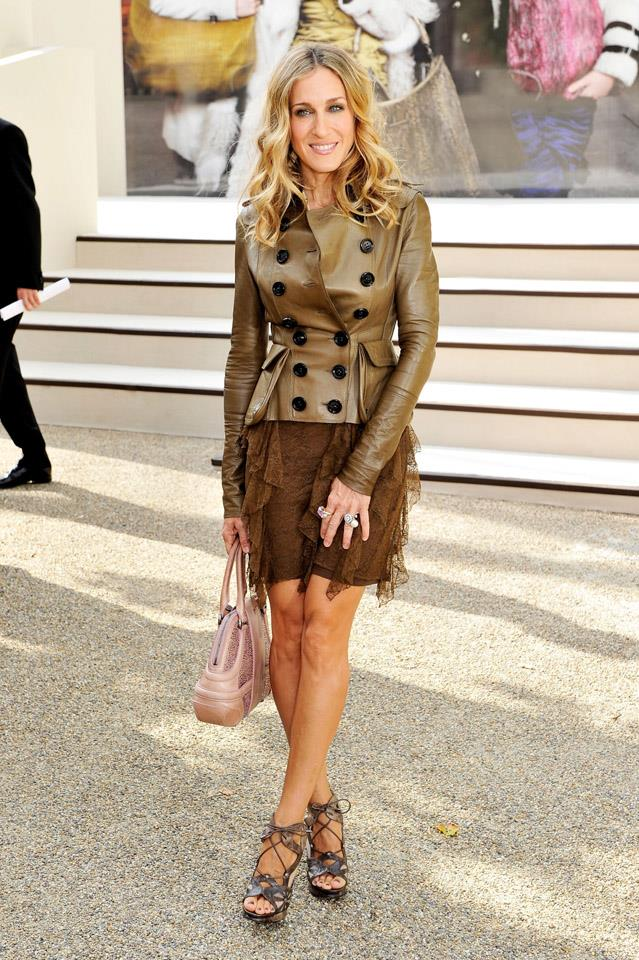 <strong>2008</strong> <br><br> In Burberry at London Fashion Week.