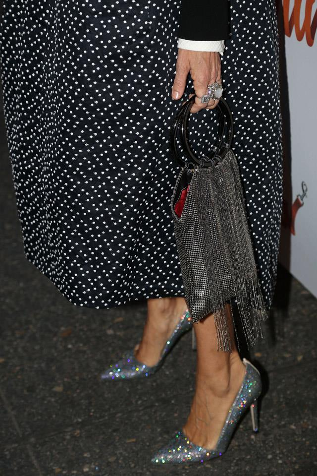 <strong>2015</strong> <br><br> SJP's feet attend the opening night of <em>Sylvia.</em>