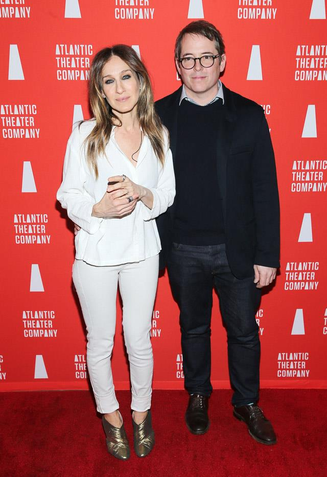 <strong>2016</strong> <br><br> Attending the opening night of Hold On to Me Darling with the two loves of her life: husband Matthew Broderick and shimmery shoes.