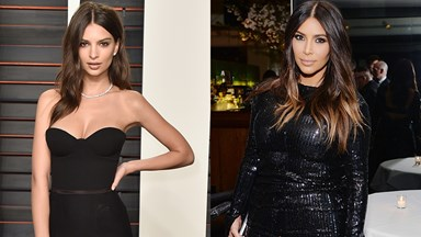 Kim Kardashian and Emily Ratajkowski Snapped a Nude Selfie Together