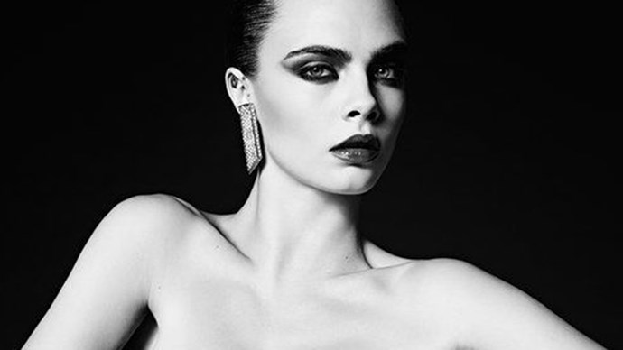 Cara Delevingne makes a triumphant return to modelling (after a short hiatus), fronting Saint Laurent's couture campaign. Check out the snaps here.