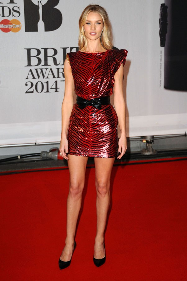 <strong>Rosie Huntington-Whiteley</strong> <br><br> The BRIT Awards, 2014