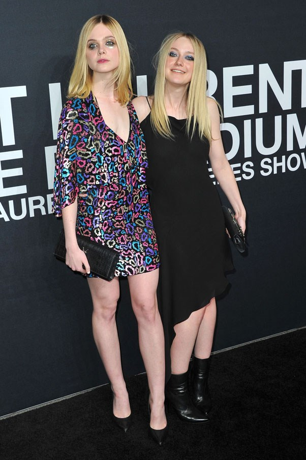 <strong>Elle Fanning and Dakota Fanning</strong> <br><br> SAINT LAURENT at the Palladium, 2016