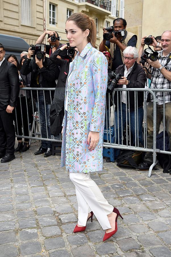 Outside Christian Dior haute couture A/W 2015