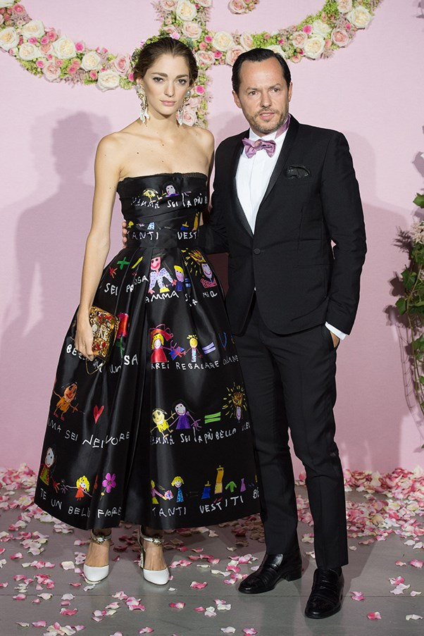 In Dolce and Gabbana at the Ballet National de Paris' opening season gala