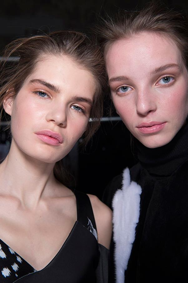 "<strong>PEACHEY KEEN</strong><BR><BR> Everything about peach screams spring, so much so that we've never even given the colour the chance to prove just how pretty it might be in the autumn. Thankfully, makeup artists showed us its unexpectedly sophisticated and romantic side—at Prabal Gurung (left), where Diane Kendal referenced Lord Byron's ""She Walks In Beauty;"" Nina Ricci, where mood boards told the story of a woman getting ready for a late-night rendezvous; Balmain and more."