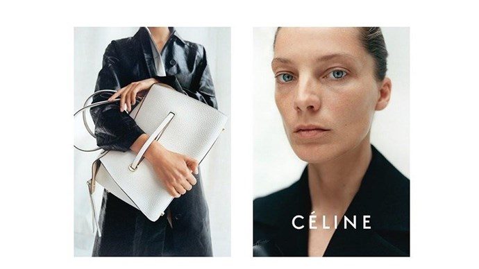 <strong>Céline Resort 2015</strong><br><br> Shot by Tyrone Lebon<br> Hair by Tina Outen<br> Makeup by Miranda Joyce<br> Set design by David White<br> Produced by Sylvia Farago