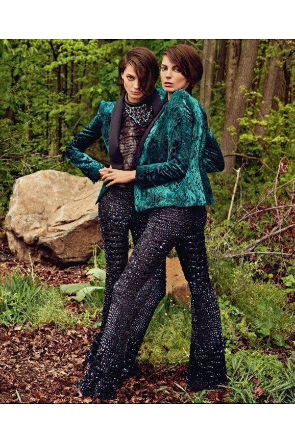 <strong>Roberto Cavalli A/W 2012</strong><br><br> Shot by Inez and Vinoodh