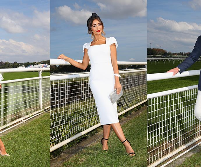 Celebrities at the races