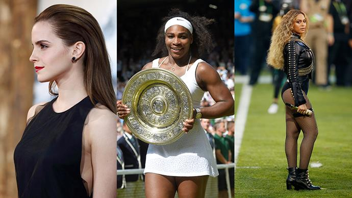 From Serena Williams to Emma Watson we let 23 inspiring women school us on the importance of correcting the gender pay gap, once and for all.