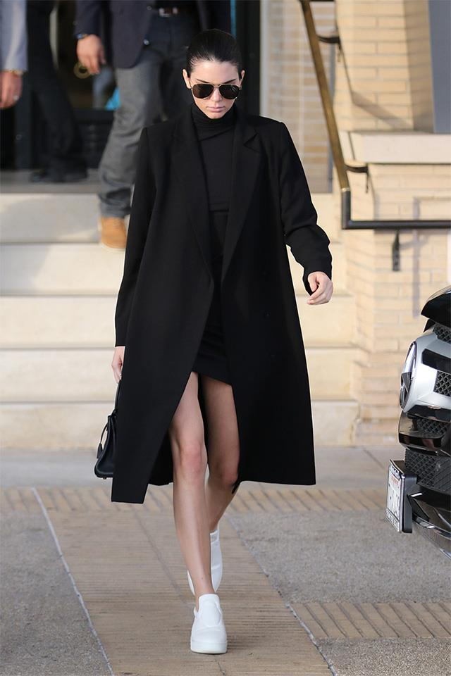 "Kendall in the <a href=""http://ty-lr.com/the-classic-coat?color=black"">Ty-lr Classic Coat</a>"