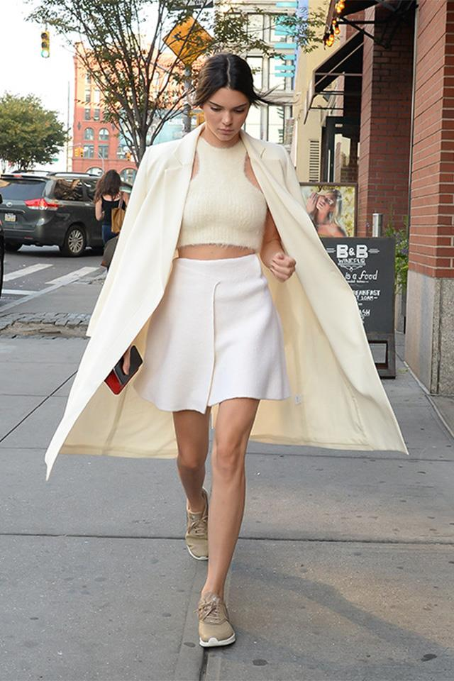 "Kendall in the <a href=""http://ty-lr.com/the-classic-coat?color=cream"">Ty-lr Classic Coat </a>"